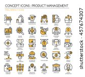 product management   thin line... | Shutterstock .eps vector #457674307