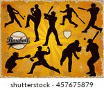 baseball players in vector... | Shutterstock .eps vector #457675879
