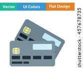 credit card icon. flat color...