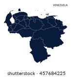 map of venezuela | Shutterstock .eps vector #457684225