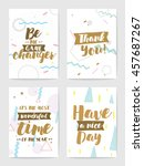 creative cards with... | Shutterstock .eps vector #457687267