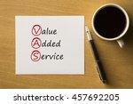vas   value added services  ... | Shutterstock . vector #457692205