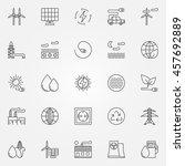 alternative energy icons.... | Shutterstock .eps vector #457692889