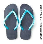 blue flip flops isolated on... | Shutterstock . vector #457696555