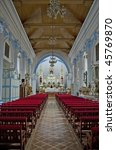 interior of the roman catholic... | Shutterstock . vector #45769870
