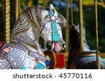 Weathered Carousel Horse With...