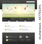 eco modern one page website...