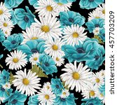 seamless pattern of white and... | Shutterstock . vector #457703209