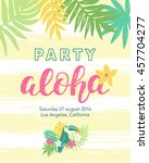 tropical beach party banner... | Shutterstock .eps vector #457704277