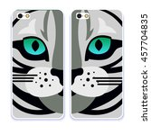 vector fashion phone case.... | Shutterstock .eps vector #457704835