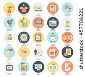 flat conceptual icons set of... | Shutterstock .eps vector #457706221