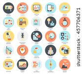flat conceptual icons set of... | Shutterstock .eps vector #457706371