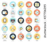 flat conceptual icons set of... | Shutterstock .eps vector #457706395