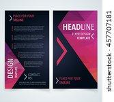 vector design template of flyer ... | Shutterstock .eps vector #457707181