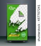 roll up banner stand design ... | Shutterstock .eps vector #457707241