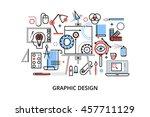 modern flat thin line design... | Shutterstock .eps vector #457711129