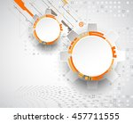 abstract technological... | Shutterstock .eps vector #457711555
