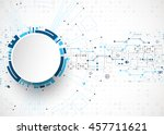 abstract technological... | Shutterstock .eps vector #457711621