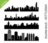 bangkok skyline silhouettes... | Shutterstock .eps vector #457713064