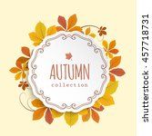 vector autumn background ... | Shutterstock .eps vector #457718731