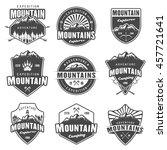 mountain travel  outdoor... | Shutterstock .eps vector #457721641