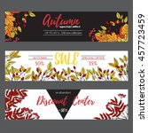 autumn sale poster  cards ... | Shutterstock .eps vector #457723459