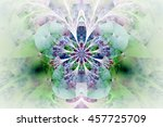 abstract glowing flower on... | Shutterstock . vector #457725709