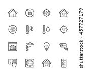 smart house vector icon set in... | Shutterstock .eps vector #457727179