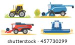 farming agricultural machines... | Shutterstock .eps vector #457730299