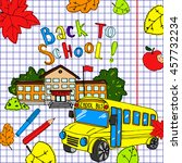 back to school illustration.... | Shutterstock . vector #457732234