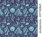hand drawn seamless pattern...   Shutterstock .eps vector #457740865