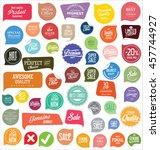 modern badges and labels... | Shutterstock .eps vector #457744927