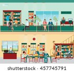 various character of people in... | Shutterstock .eps vector #457745791