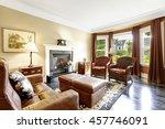 luxury home interior in brown... | Shutterstock . vector #457746091