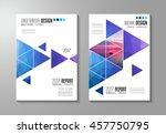 brochure template  flyer design ... | Shutterstock .eps vector #457750795