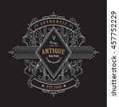 vintage badge antique label... | Shutterstock .eps vector #457752229