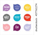 modern badges and labels... | Shutterstock .eps vector #457761274