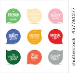 modern badges and labels... | Shutterstock .eps vector #457761277