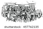customers at traditional... | Shutterstock .eps vector #457762135