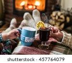 warming and relaxing near... | Shutterstock . vector #457764079