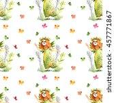 angels  flowers  watercolor ... | Shutterstock . vector #457771867