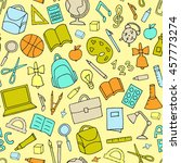 vector school supplies seamless ... | Shutterstock .eps vector #457773274