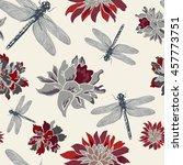 hand drawn seamless pattern... | Shutterstock .eps vector #457773751