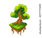 isometric tree.vector...