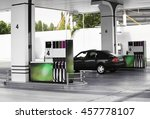modern petrol station beside... | Shutterstock . vector #457778107