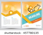 a4 size medical brochure flyer... | Shutterstock .eps vector #457780135