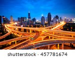 elevated view of a road... | Shutterstock . vector #457781674