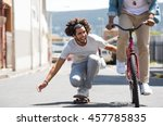 closeup of a happy young man... | Shutterstock . vector #457785835
