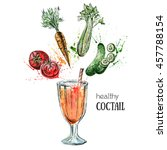 healthy fresh cocktail....   Shutterstock . vector #457788154