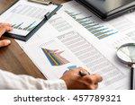 business analysis   calculator  ... | Shutterstock . vector #457789321
